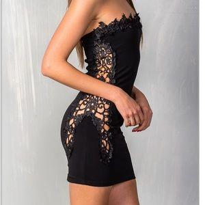 Sexy Black Strapless Dress